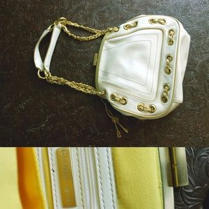 Gianni Bini white leather purse